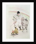 At the Circus: performing horse and monkey by Henri de Toulouse-Lautrec