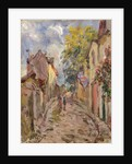 Village Street Scene by Alfred Sisley