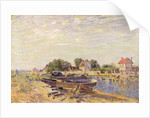 The Loing at Saint-Mammes by Alfred Sisley