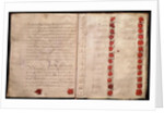 Articles of Union between England and Scotland from the House of Lords record office by Anonymous