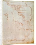 Drawing of architectural details by Michelangelo Buonarroti