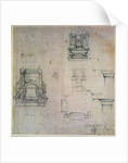 Designs for tombs by Michelangelo Buonarroti