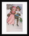 Girl and Boy Skating, late 19th or early 20th century by Florence Hardy