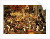 The Battle between Carnival and Lent by Pieter the Younger Brueghel