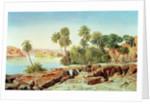 Philae on the Nile by Edward Lear