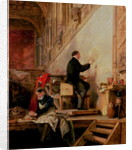 Daniel Maclise painting his mural 'The Death of Nelson' in the House of Lords by John Ballantyne