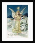 Angel with Violin, Victorian postcard by Anonymous