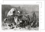 Emigration to the Western Country, engraved by Bobbett by Felix Octavius Carr Darley