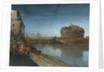 Castel Sant' Angelo at Dusk by Oswald Achenbach