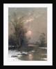 Winter Sunset by Johann II Jungblut