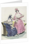 Fashion plate from 'Le Follet Courrier des Salons Modes' by French School