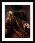An Old Man in an Armchair by Rembrandt Harmensz. van Rijn