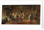 Masked Guests with Musicians by Flemish School