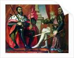 Carlos I and Felipe II by Spanish School