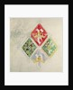 Stained glass window design for the Houses of Parliament by Augustus Welby Northmore Pugin