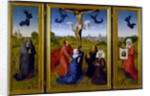 Crucifixion triptych with St. Mary Magdalene, St. Veronica and unknown Patrons, c.1440-45 by Rogier van der Weyden