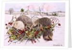 Hedgehogs in Hedgerow Basket, 1996 by E.B. Watts