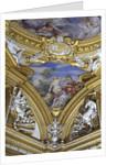 The 'Sala di Apollo' detail of pendentive depicting the muses Calliope and Melpomene, c.1647 by Pietro da Cortona