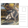 The 'Sala delle Nozze di Alessandro e Rossana' and Roxanne) detail of a putto hiding by Roxanne's feet, c.1513 by Giovanni Antonio Bazzi Sodoma
