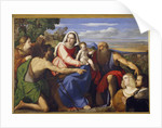 Sacra Conversazione with St. Catherine, John the Baptist and Two Donors by Jacopo Palma