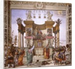 St. Philip exorcizing the demon from the temple of Mars by Filippino Lippi