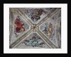 Ceiling in Strozzi Chapel depicting prophets Abraham, Noah, Adam and Jacob c.1489-1502 by Filippino Lippi