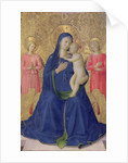 The Bosco ai Frati Altarpiece: The Virgin and Child enthroned with two angels, 1452 by Fra Angelico