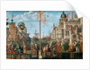 The Meeting of Etherius and Ursula and the Departure of the Pilgrims by Vittore Carpaccio