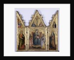 Triptych with Madonna and Child, c.1400 by Andrea di Bartolo