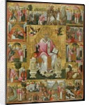 Icon of St Spyridon with Scenes of his life by Theodoros Pulakis