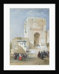 The Gate of Justice, Entrance to the Alhambra, 1833 by David Roberts