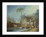 Crossing the Bridge, late 1730s by Francois Boucher