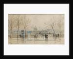 Pont des Arts, Paris, 6th March 1897 by Frank Myers Boggs
