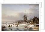 A Winter Landscape by Laurens Johannes Kleijn