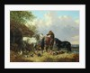 Three Horses with Pigs by John Frederick Herring Jnr