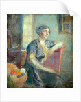 Mrs Lousada, painted at her house by Ambrose McEvoy