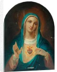 Our Lady with the Sacred Heart by French School