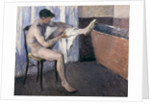 Man drying his leg by Gustave Caillebotte