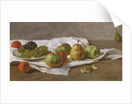 Apples, pears and grapes by Gustave Courbet