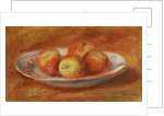Still Life with Four Apples on a Plate, 1914 by Pierre Auguste Renoir