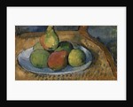Plate of Fruit on a Chair, 1879-80 by Paul Cezanne
