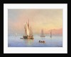 Shipping in a calm by Herminie or Henriette Gudin