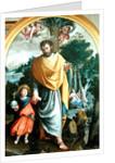 St. Joseph leading the infant Christ by Juan Sanchez Cotan