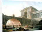 Architectural capriccio by Hubert Robert