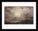 Livonia after losing bowsprit mid-Atlantic, 1871 by Unknown Artist