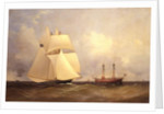Cambria passing Sandy Hook after Transatlantic Race, 1870 by Unknown Artist