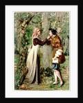 Celia Telling Rosalind that Orlando is in the Forest by Edward Rainford