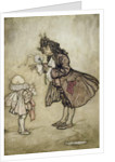 When Her Majesty Wants to Know the Time by Arthur Rackham