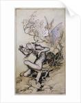 Sprite and Monster by Arthur Rackham