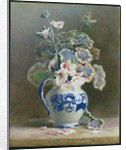 Geraniums in a China Jug, 1875 by Hector Caffieri